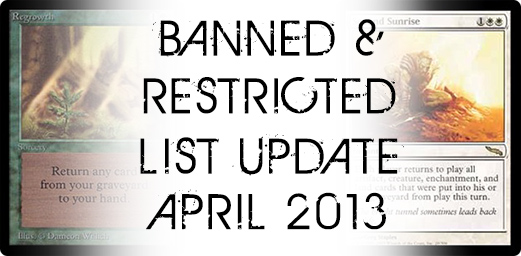 Banned Restricted Update April 2013